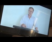 Alasdair Roy on video message