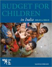 Budget For Children in India 2004-05 to 2008-09