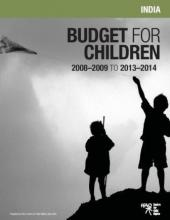 Budget for Children India- 2008 - 2009 to 2013 - 2014
