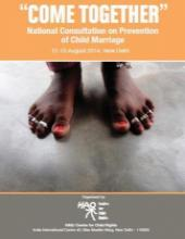 Report of the National Consultation on Prevention of Child Marriage