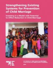 Strengthening Existing Systems for Prevention of Child Marriage