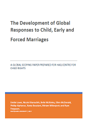 The Development of Global Responses to Child, Early and Forced Marriages
